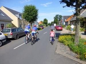 Dänisches Radrennen mit dem Funtrailer